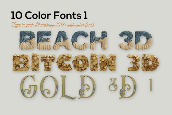 Download Free 10 Color Font By Jumbodesign Creative Fabrica for Cricut Explore, Silhouette and other cutting machines.