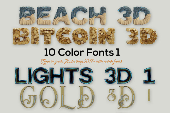 Print on Demand: 10 Color SVG'S Color Fonts Font By JumboDesign