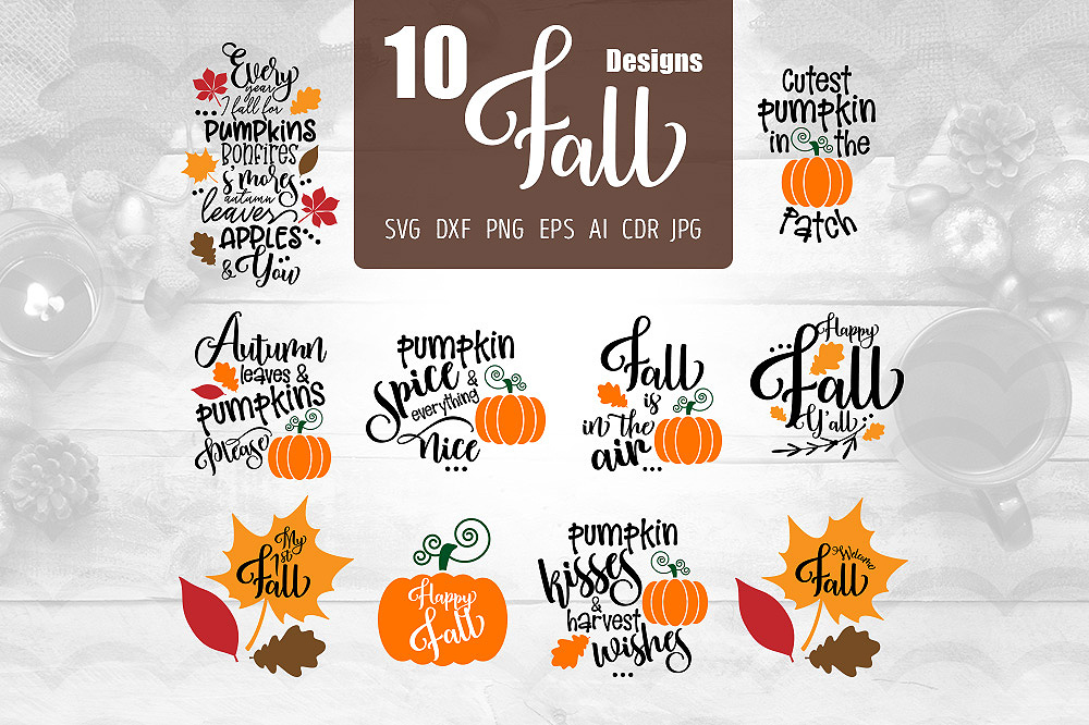 Download Free 10 Fall Designs Graphic By Vector City Skyline Creative Fabrica SVG Cut Files