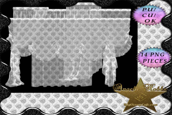 14 Sheer PNG Curtains Graphic By Sojournstar Image 1