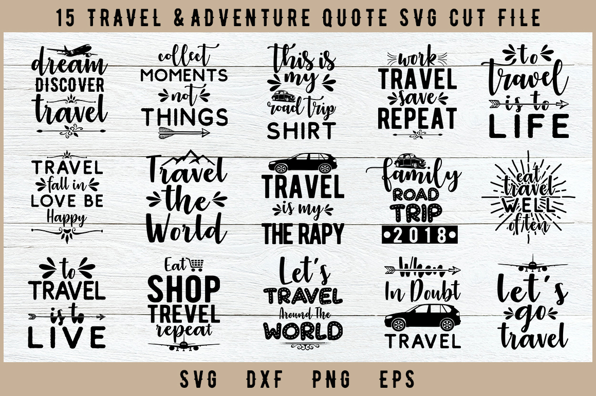 Download Free 15 Travel Svg Files Graphic By Artistcreativedesign Creative for Cricut Explore, Silhouette and other cutting machines.