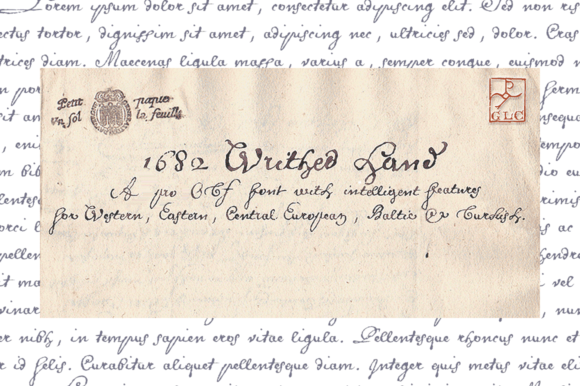 Print on Demand: 1682 Writhed Hand Script & Handwritten Font By GLC Foundry
