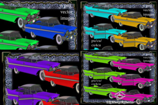 1960's Compact Cars Bundle Graphic By Sojournstar