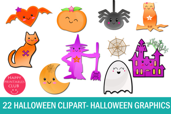 22 Kawaii Halloween Clipart-Halloween Graphics Clipart Graphic Item