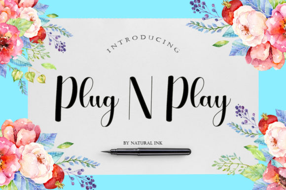 Print on Demand: Plug N Play Script & Handwritten Font By Natural Ink