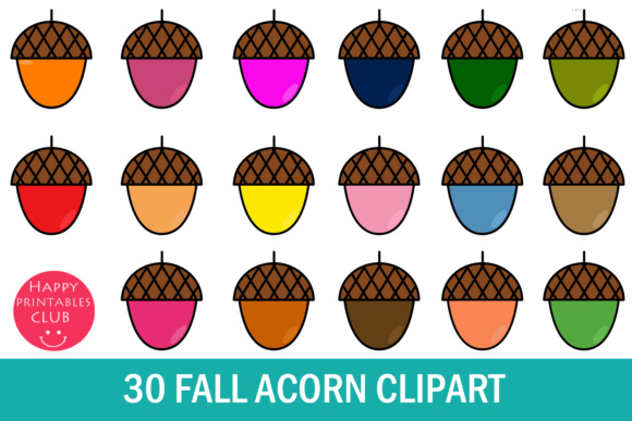 Download Free 30 Acorn Clipart Fall Acorn Clipart Graphic By Happy for Cricut Explore, Silhouette and other cutting machines.
