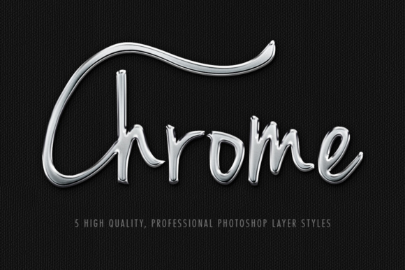 5 Professional Chrome Layer Styles Graphic Layer Styles By Gianluca Giacoppo