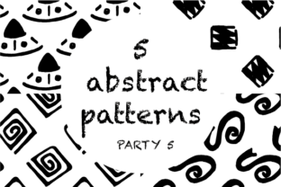 5 Abstract Patterns Graphic By hamelinckmichael