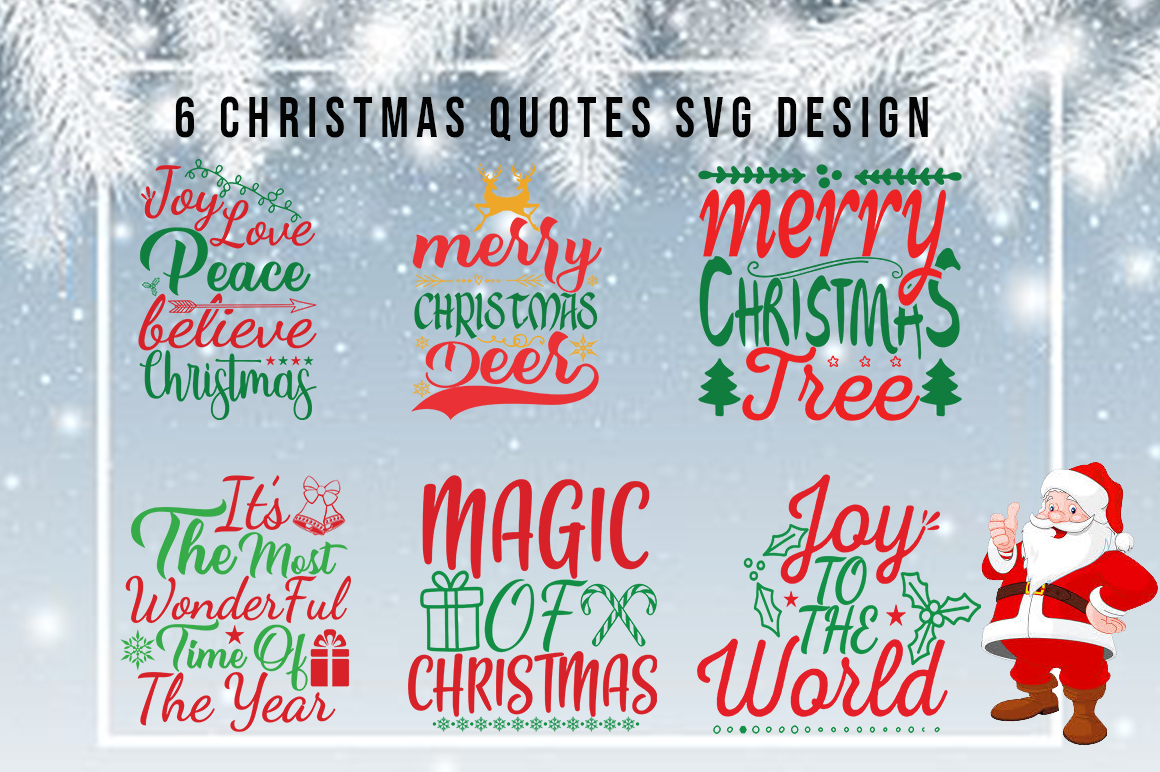 Download Free 6 Christmas Quotes Bundle Grafik Von Artistcreativedesign for Cricut Explore, Silhouette and other cutting machines.
