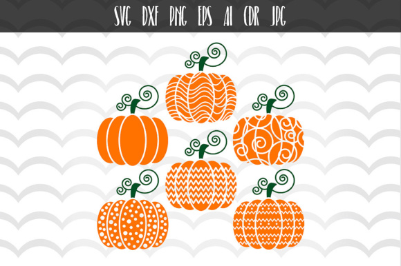 Download Free 6 Halloween Pumpkin Designs Cut File Graphic By Vector City for Cricut Explore, Silhouette and other cutting machines.