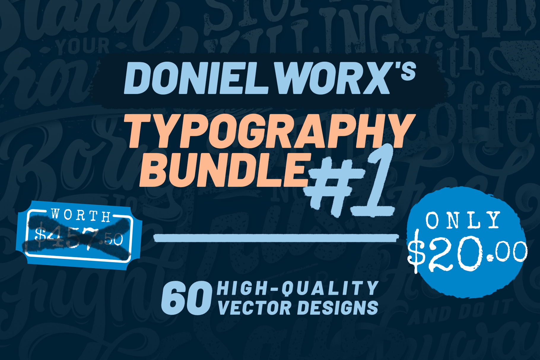 Download Free 60 Typography Vector Bundle Graphic By Doniel Worx Creative for Cricut Explore, Silhouette and other cutting machines.