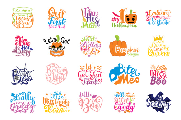 Download Free 80 Halloween Quotes Mega Bundle Graphic By Thelucky Creative for Cricut Explore, Silhouette and other cutting machines.