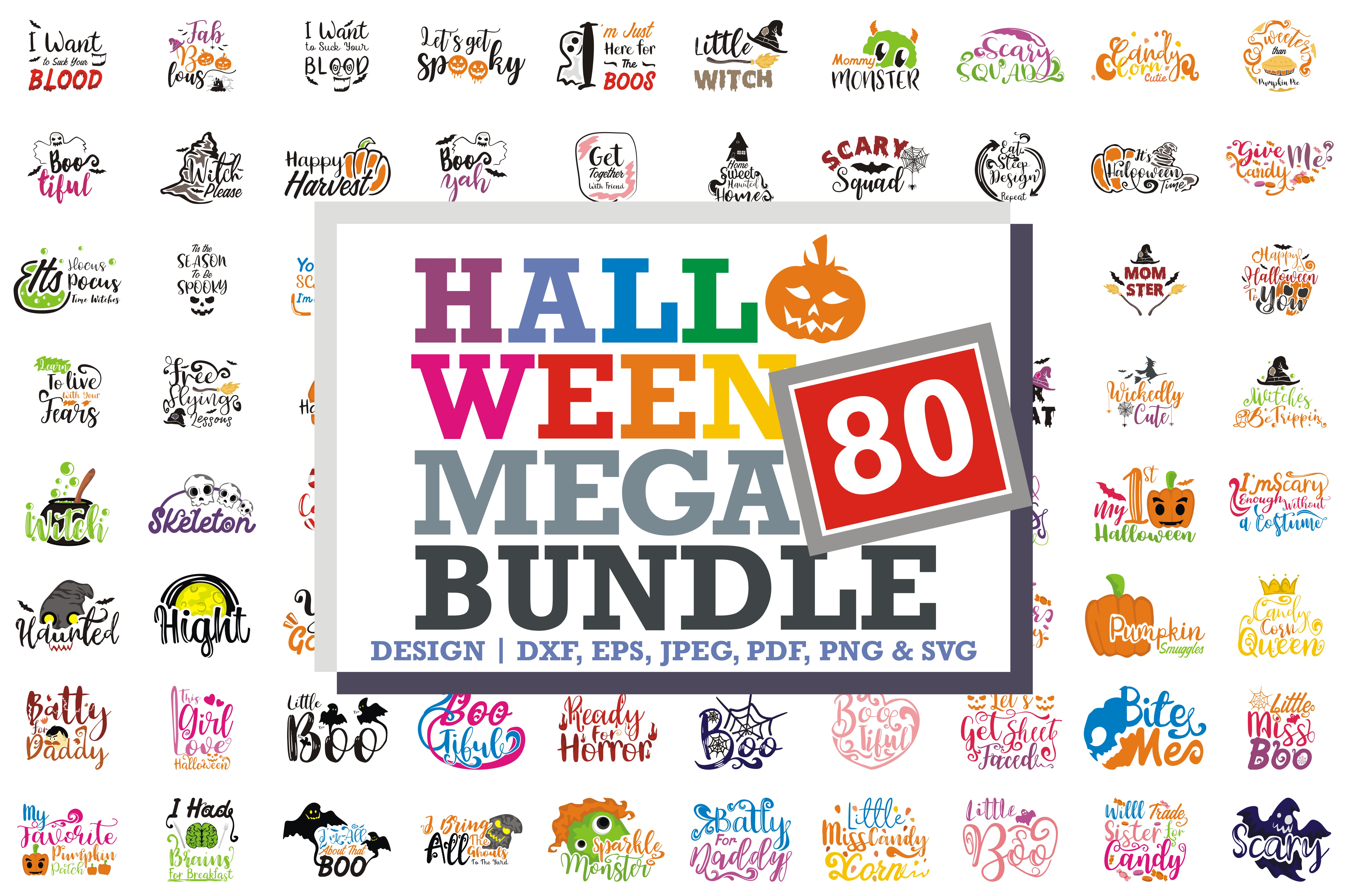 Download Free 80 Halloween Quotes Mega Bundle Grafik Von Thelucky Creative for Cricut Explore, Silhouette and other cutting machines.