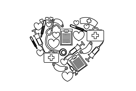 Download Free A Heart Made Out Of Medical Equipment Svg Cut File By Creative for Cricut Explore, Silhouette and other cutting machines.
