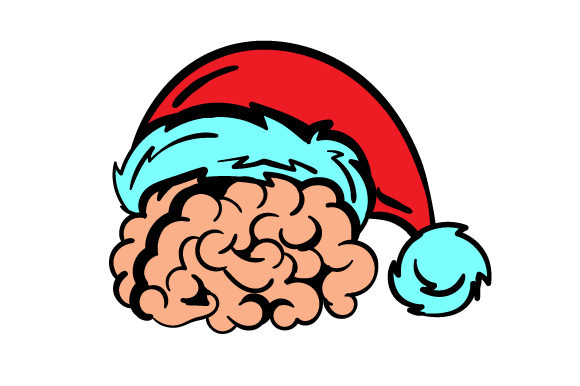 Download Free A Human Brain With Santa Hat Svg Cut File By Creative Fabrica for Cricut Explore, Silhouette and other cutting machines.