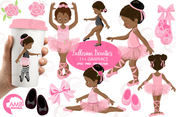 AA Ballerina Clipart Graphic Illustrations By AMBillustrations