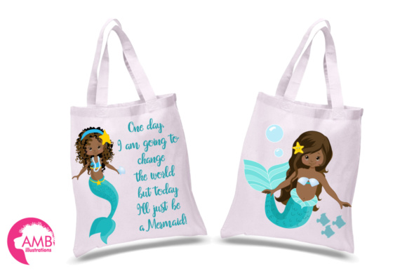 AA Mermaid Clipart Graphic Illustrations By AMBillustrations - Image 2