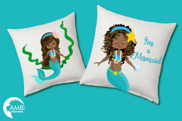 AA Mermaid Clipart Graphic Illustrations By AMBillustrations - Image 3