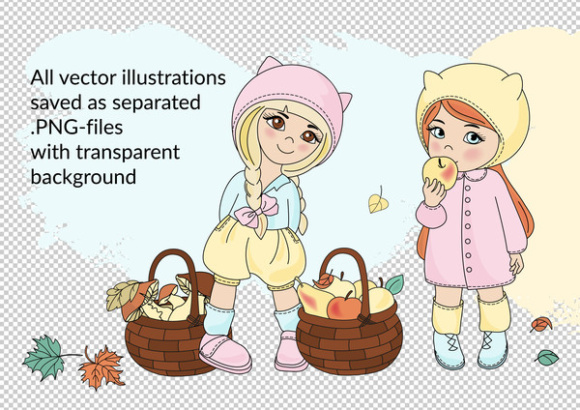 AUTUMN Clipart & Digital Print Set
