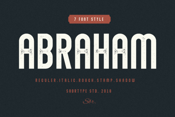 Print on Demand: Abraham Family Sans Serif Font By sabrcreative
