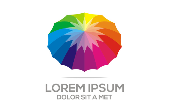 Abstract Colorful Umbrella Logo Concept Gráfico Logos Por Acongraphic
