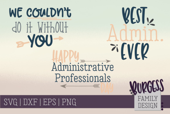 Administrative Professionals Bundle Graphic Crafts By burgessfamilydesign