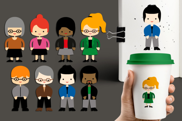 Print on Demand: Adult People Graphic Illustrations By Revidevi