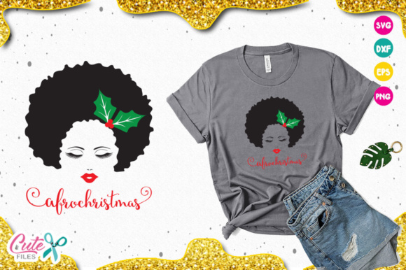 Download Free Afro Christmas Svg Graphic By Cute Files Creative Fabrica SVG Cut Files