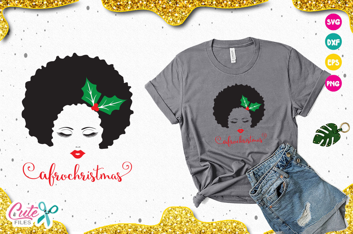 Download Free Afro Christmas Svg Graphic By Cute Files Creative Fabrica for Cricut Explore, Silhouette and other cutting machines.