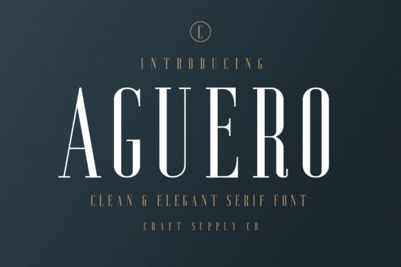 Print on Demand: Aguero Serif Font By craftsupplyco