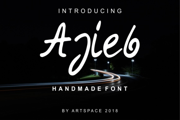 Print on Demand: Ajieb Script & Handwritten Font By MJB Letters