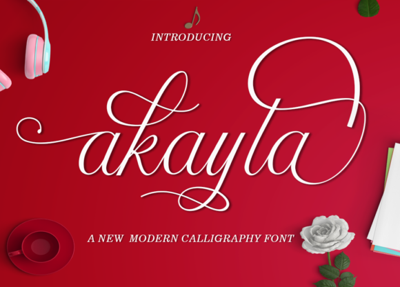 Print on Demand: Akayla Script Script & Handwritten Font By Best Font Studio