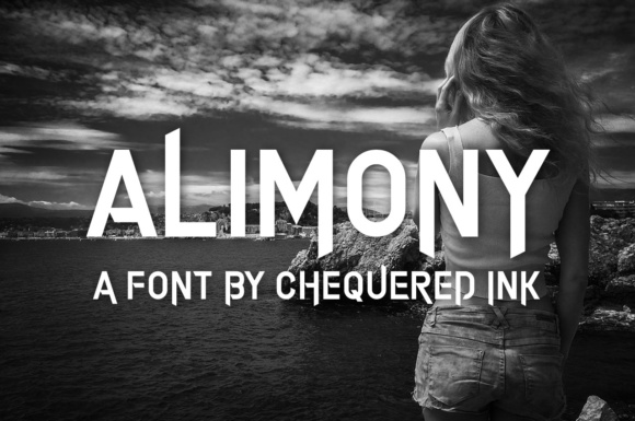 Print on Demand: Alimony Display Fuente Por Chequered Ink