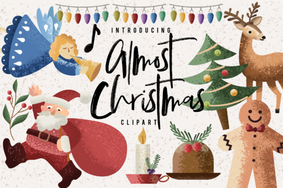 Print on Demand: Almost Christmas Bundle Graphic Illustrations By Caoca Studios