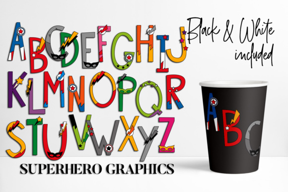 Print on Demand: Alphabet Superhero Graphic Illustrations By DarraKadisha