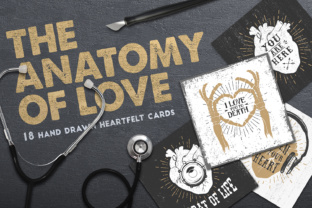 Print on Demand: Anatomy of Love - Collection of Cards Graphic Print Templates By Cosmic Store