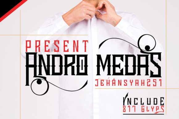 Print on Demand: Andro Medas Display Font By jehansyah251