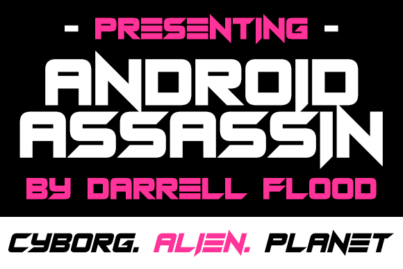 Print on Demand: Android Assassins Display Font By Dadiomouse