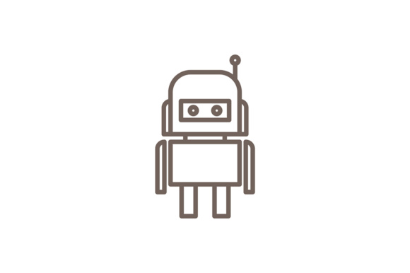 Android Robotic Graphic Logos By Friendesigns