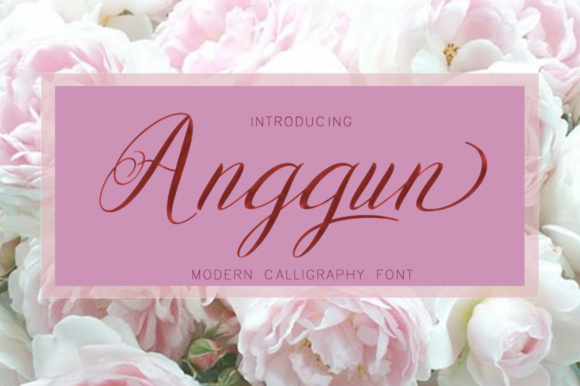 Print on Demand: Anggun Script Script & Handwritten Font By Posts Type - Image 1