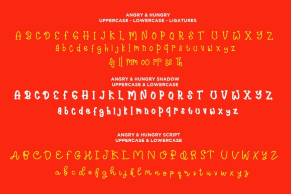 Print on Demand: Angry & Hungry Script & Handwritten Font By Haksen - Image 2
