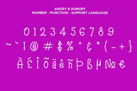 Print on Demand: Angry & Hungry Script & Handwritten Font By Haksen - Image 3