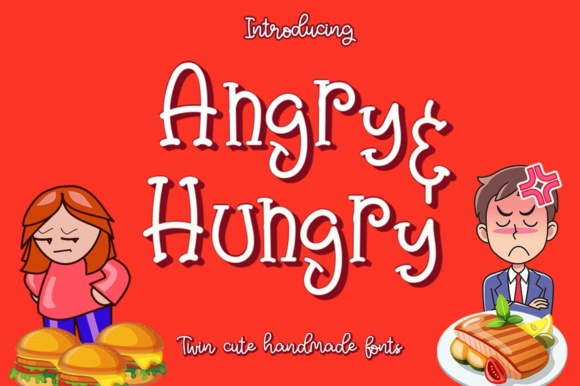 Print on Demand: Angry & Hungry Script & Handwritten Font By Haksen