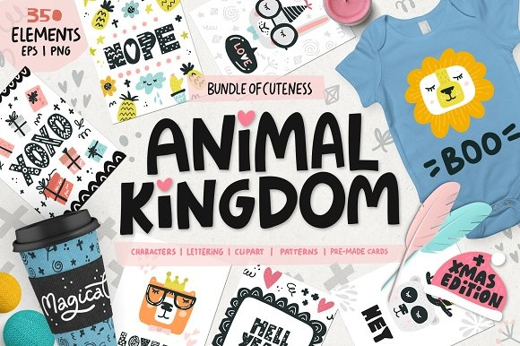 Animal Kingdom - Nursery Art Graphic By Favete Art