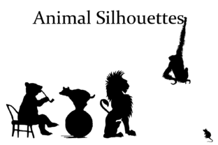 Animal Silhouettes Dingbats Font By Intellecta Design