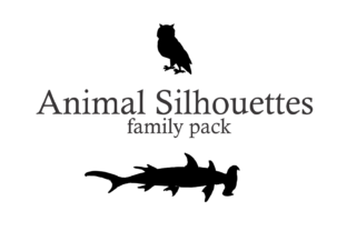 Animal Silhouettes Font By Intellecta Design