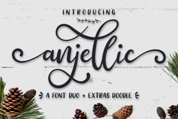Print on Demand: Anjellic Duo Script & Handwritten Font By Bluestudio