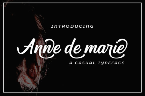 Print on Demand: Anne De Marie Script & Handwritten Font By alandya typefoundry