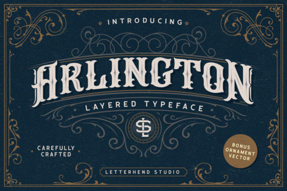 Print on Demand: Arlington Display Font By letterhend