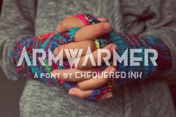 Print on Demand: Armwarmer Display Font By Chequered Ink